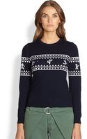 Band Of Outsiders Wool Sweater - Lyst