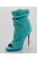 Christian Louboutin Guerilla Studded Suede Red Sole Bootie - Lyst