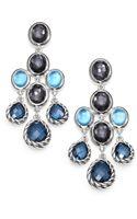 David Yurman Semi Precious Multistone Sterling Silver Chandelier Earrings - Lyst