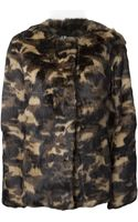 Erro Camouflage Rabbit Fur Jacket - Lyst