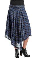 Free People Faux Wrap Tartan Skirt - Lyst