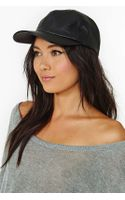Nasty Gal Sly Faux Leather Cap - Lyst