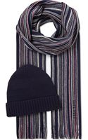 Hugo Boss Fadi Striped Hat and Scarf Set - Lyst