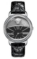 Versace Dualdial Leatherstrap Watch Black - Lyst