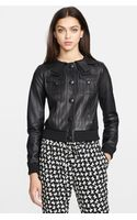 RED Valentino Nappa Leather Jacket - Lyst