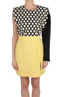 Emanuel Ungaro Printed Cady and Wool Crepe Dress - Lyst
