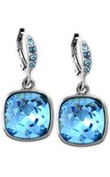 Givenchy Silvertone Blue Crystal Earrings - Lyst