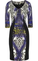 Etro Printed Stretch-crepe Dress - Lyst