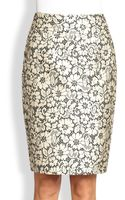 Burberry Brocade Lace Pencil Skirt - Lyst
