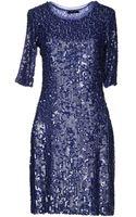 Caractere Sequin Shimmer Short Dress - Lyst