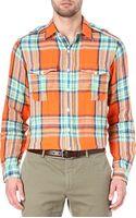 Ralph Lauren Buttoned Shoulder Checked Shirt - Lyst