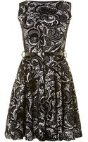 Sodamix Swirl Sleeveless Skater Dress and Patent - Lyst