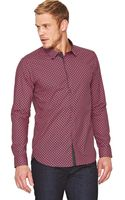 Ted Baker Ted Baker Ls Shield Geo Print Shirt - Lyst