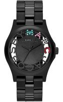 Marc By Marc Jacobs Henry Black Grey Skeleton Watch - Lyst