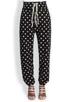 3.1 Phillip Lim Polka Dot Cotton Sweatpants - Lyst