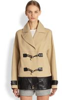 Jason Wu Leather Trimmed Cotton Coat - Lyst