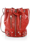 Saint Laurent Rider Leather Bucket Bag - Lyst