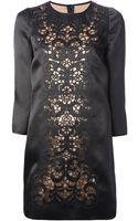 Dolce & Gabbana Lace Panel Shift Dress - Lyst