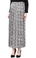 Michael Kors Snakeprint Pleated Skirt - Lyst