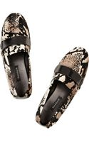Newbark Frankie Animalprint Calf Hair Slippers - Lyst
