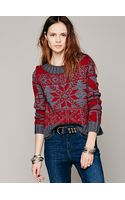 Free People Snowflake Pullover - Lyst