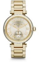 Michael Kors Midsize Golden Skylar Twohand Glitz Watch - Lyst