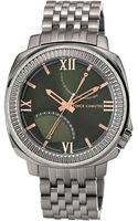 Vince Camuto Mens Silvertone Bracelet Watch with Olive Green Dial - Lyst