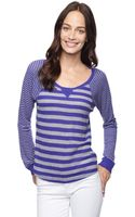 Splendid Mix Stripe Thermal Pullover - Lyst