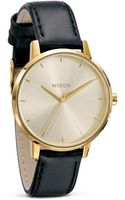 Nixon The Kensington Leather Watch 36 12mm - Lyst