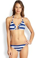 Ralph Lauren Blue Label Ruffled Triangle Bikini Top - Lyst
