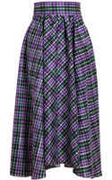 Roksanda Ilincic Checked Silk Skirt - Lyst