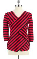 Vince Camuto Striped Bandage Top - Lyst