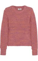 Acne Studios Lia Twist Chunky Knit Cotton Sweater - Lyst