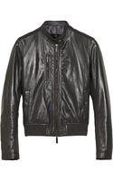 Calvin Klein Samara Leather Biker Jacket - Lyst