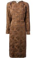 Céline Vintage Leopard Print Dress - Lyst