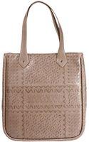Armani Jeans Handbag Eco Leather Tote Bag Maxi Logo All Over - Lyst