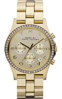 Marc By Marc Jacobs Henry Glitz Gold Watch - Lyst