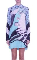 Mary Katrantzou Selofane Silk Chemisier Dress - Lyst