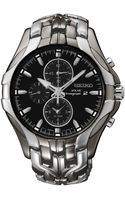 Seiko Mens Chronograph Solar Excelsior Twotone Stainless Steel Bracelet Watch 43mm Ssc139 - Lyst