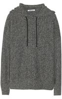 T By Alexander Wang Hooded Knitted Sweater - Lyst