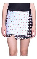 Thakoon Printed Cotton Skirt with Panel - Lyst