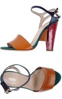 Fendi Highheeled Sandals - Lyst