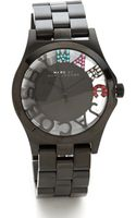 Marc By Marc Jacobs Henry Skeleton Glitz Watch - Lyst