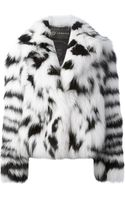 Versace Fox Fur Coat - Lyst