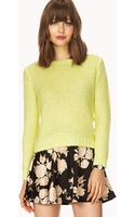 Forever 21 Soft Waffle Knit Sweater - Lyst