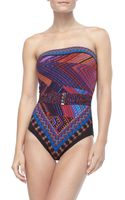 Gottex Multicolor Bandeau Swimsuit - Lyst