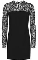 Christopher Kane Crepe and Crackle Long Sleeve Dress - Lyst