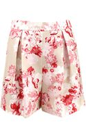 Giambattista Valli Pleat Front Floral Short - Lyst