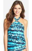 Michael by Michael Kors High Neck Tie Dye Tankini Top - Lyst