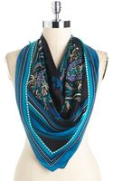Vince Camuto Vintage Print Silk Square Scarf - Lyst